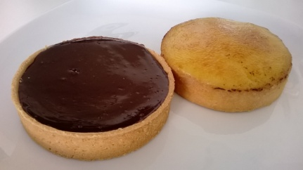 Tartelettes au chocolat and à l'orange