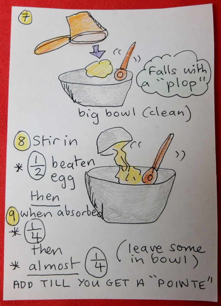 Profiteroles steps 7, 8 and 9