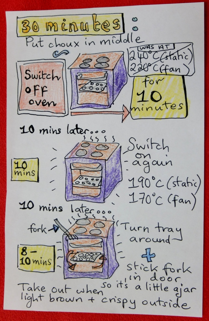 Choux oven instructions