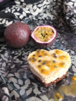 Passion fruit mousse cakes