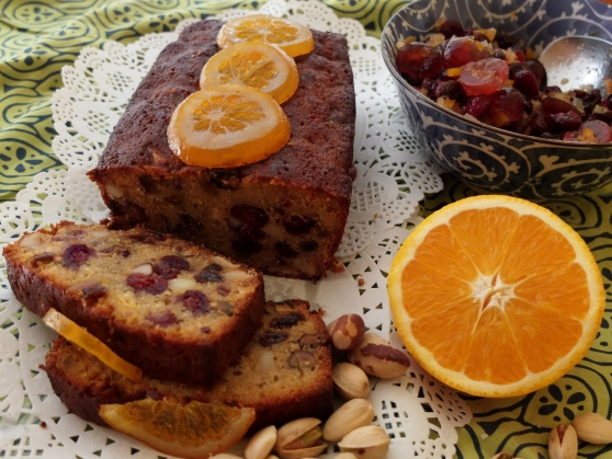 Orange and rum fruitcake-cake anglais