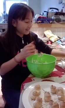 Niece making choux :)