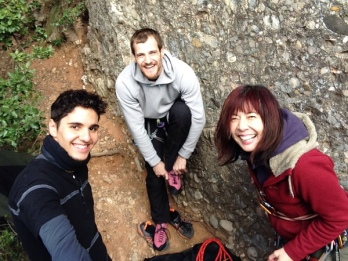 Climbers' smiles of bliss