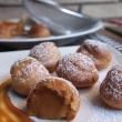 Salted caramel choux buns