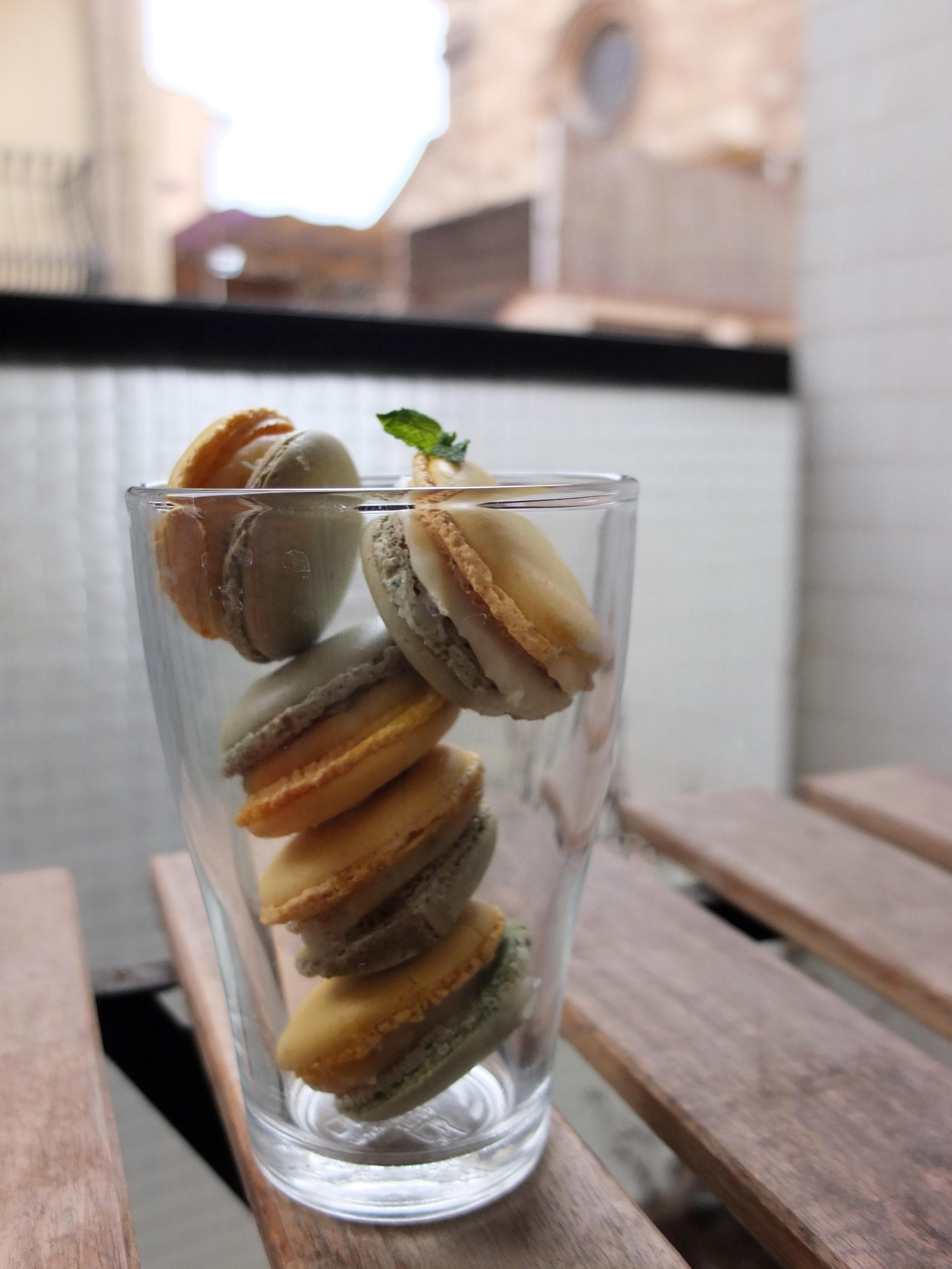 Mojito Macarons recipe con notas supplementarias en espaolingls