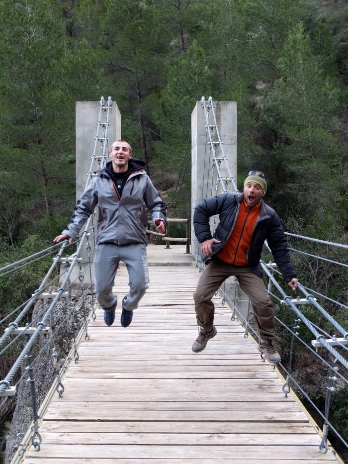 Jumping for joy at Margalef