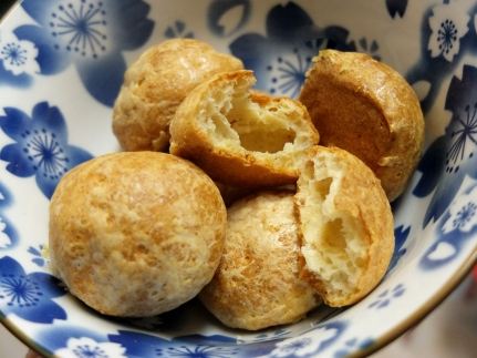 Cheese puffs - gougères