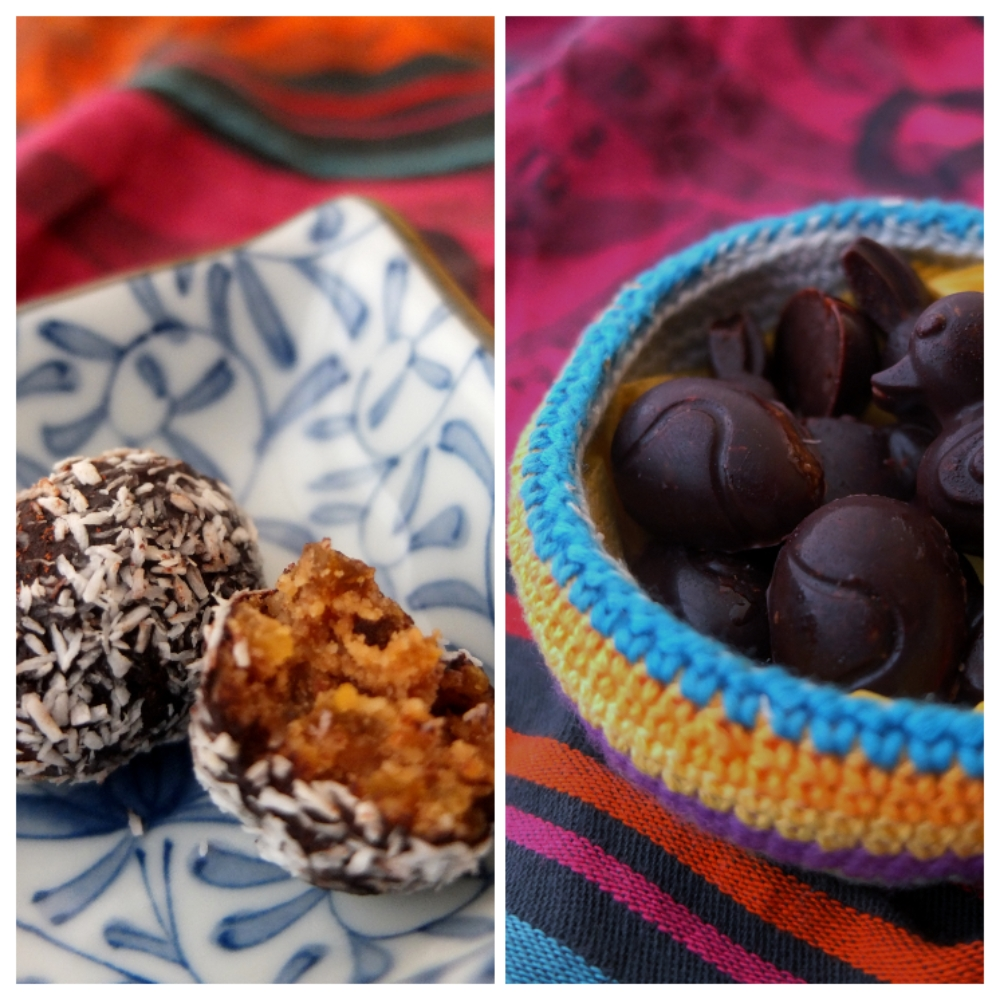 Easter) bliss ball eggs and cocoa bites – healthy recipes