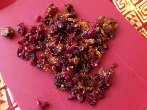 dried cranberries and golden berries