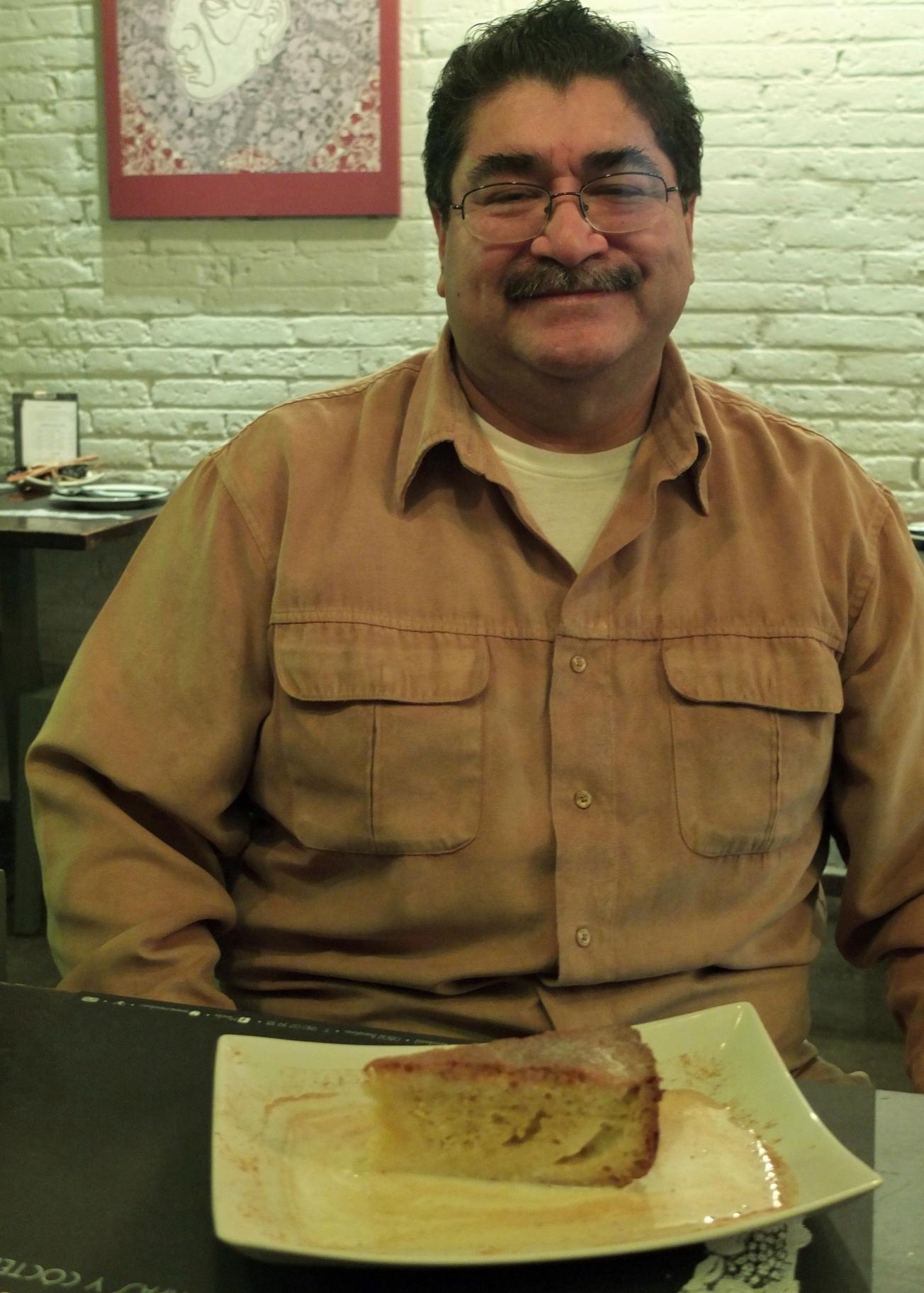Chef Rubén Boldo and his Tres Leches cake