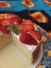 Pastel de tres leches de fresas