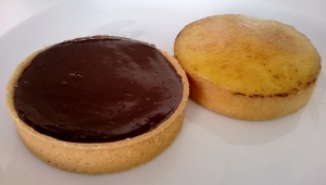 Chocolate and orange tartlets
