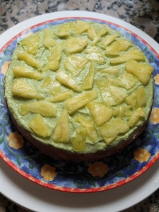 Avocado and pineapple topping