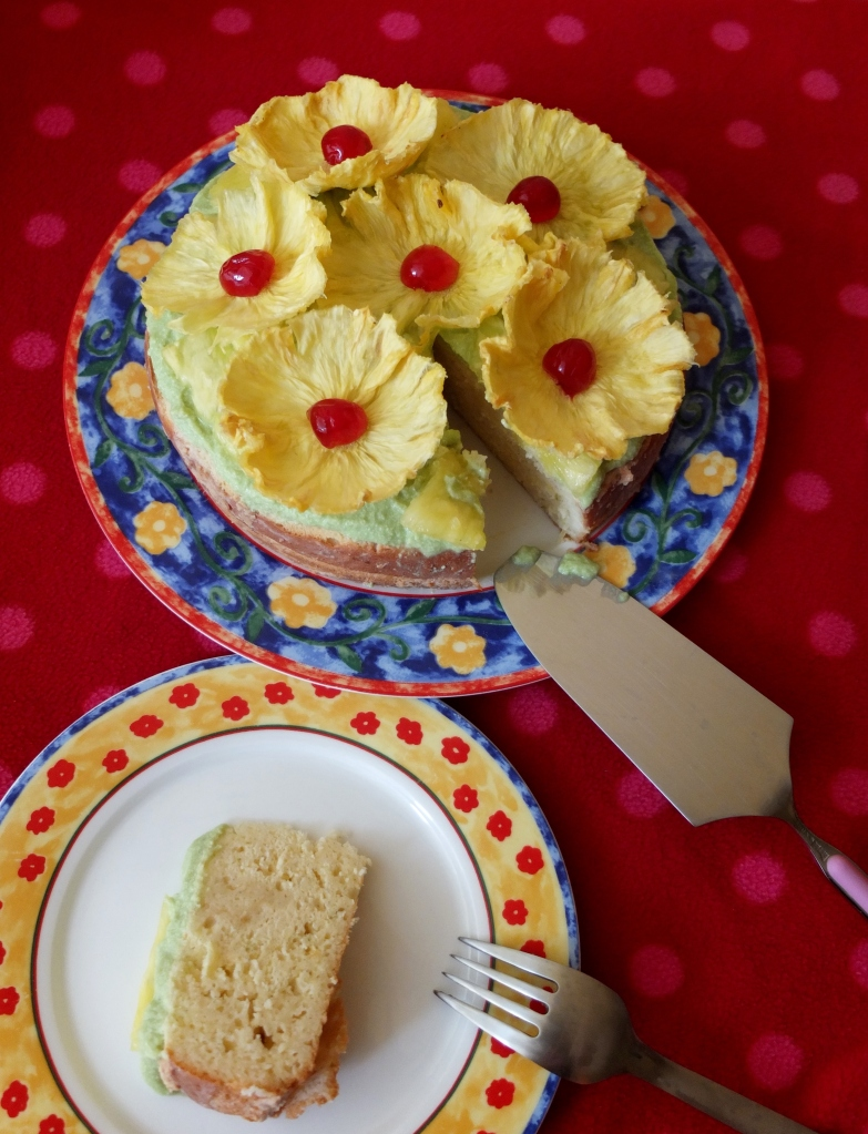 Coconut, pineapple, lime and rum tres leches cake