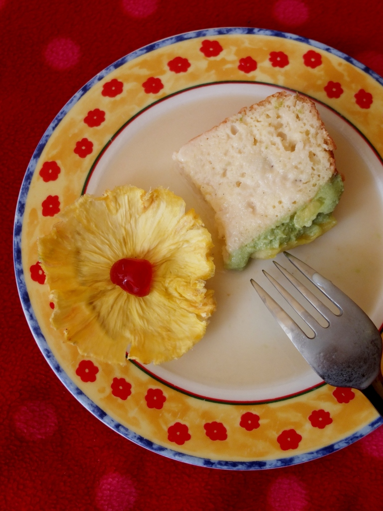 A slice of tropical tres leches cake?