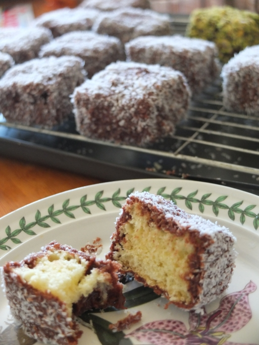 Cocoa Lamingtons