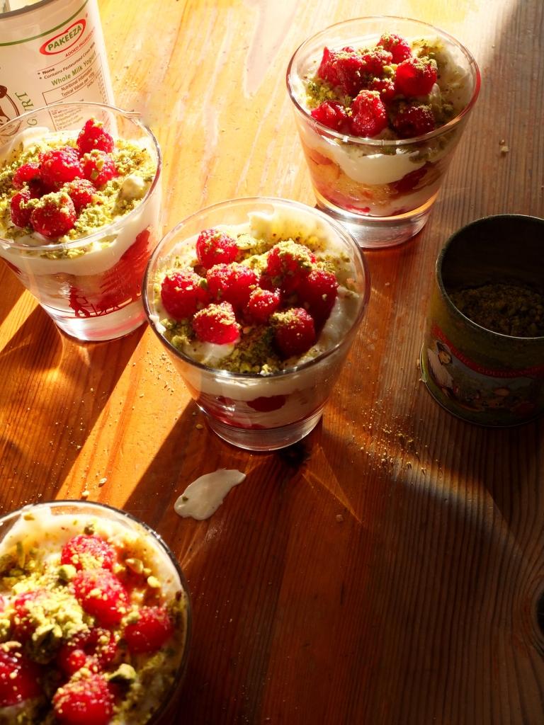 Sprinkle pistachios!