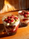 Raspberry, yoghurt and sponge verrines