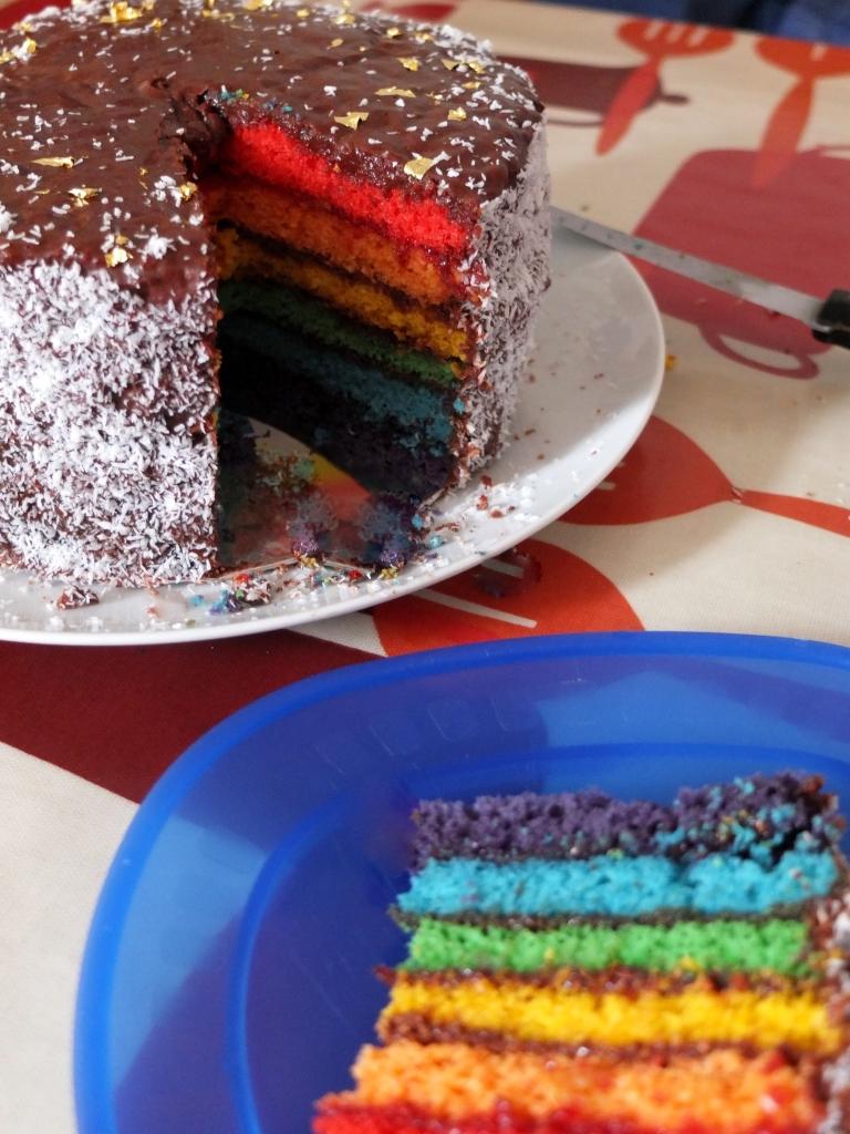 Rainbow cake!