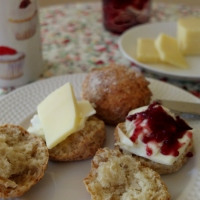 A simple spelt scones recipe and the story of two villages - with drawings! :)