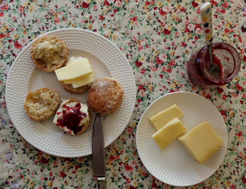 Teatime with scones!