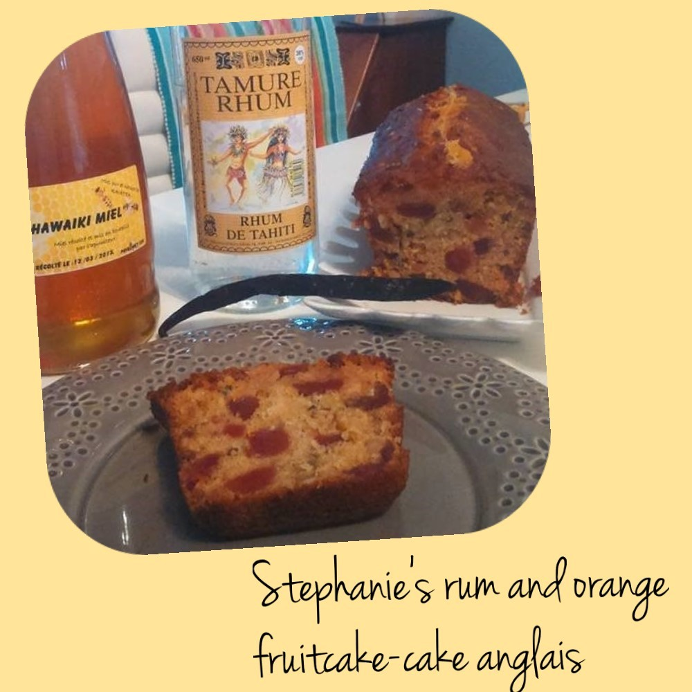 Stephanie's rum and orange fruitcake-cake anglais