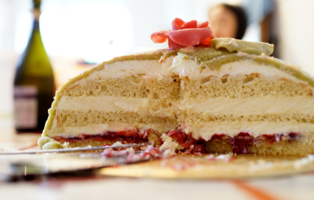 Swedish Princess cake or Prinsesstarta