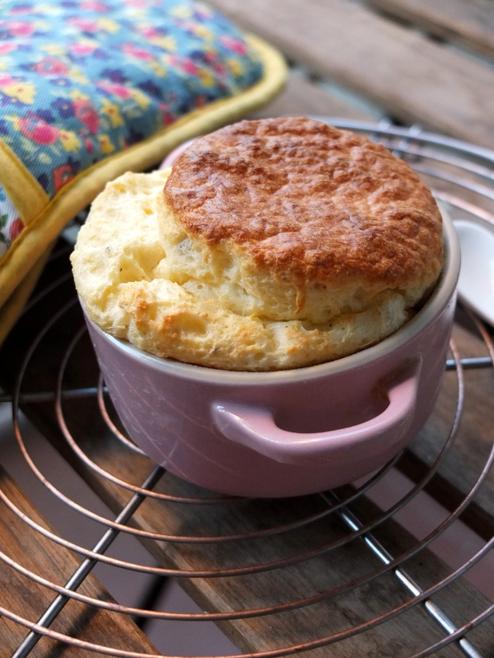 Basil and nutmeg cheese soufflé