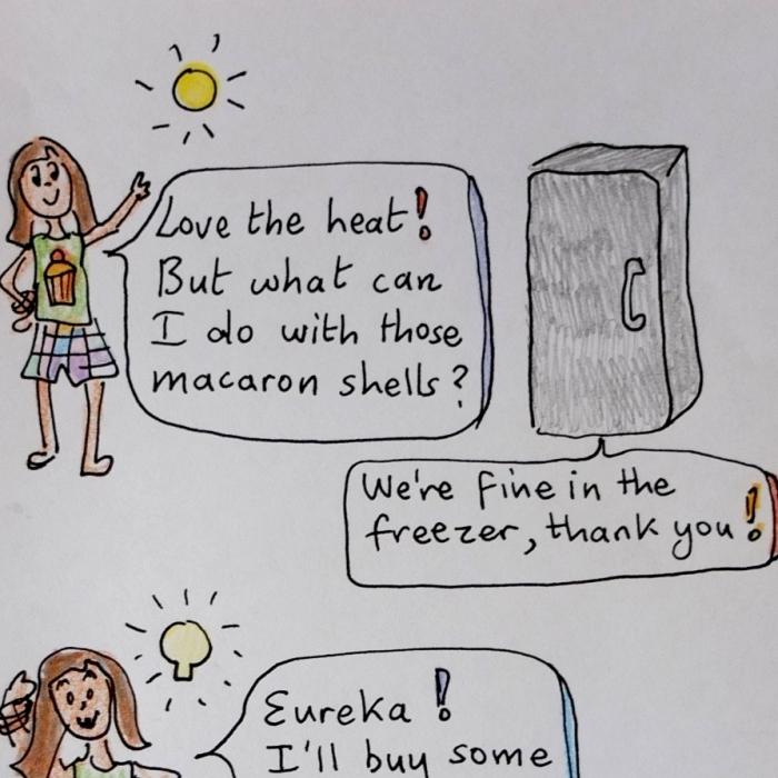 macaron ice-cream sandwiches