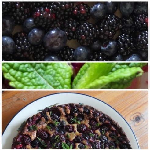 Berry summer tart with mint and a spelt pastry crust