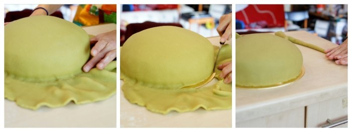 Marzipan on a princess cake