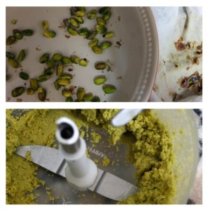 Pistachio paste made with blanched pistachios