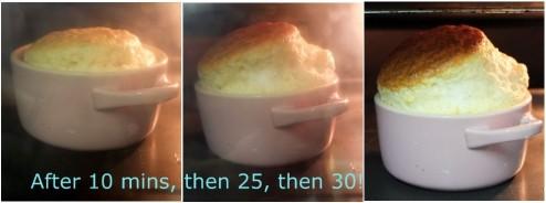 Soufflé 3 rising