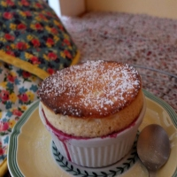 Cherry and almond soufflés recipe!  And a soufflé challenge!