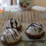 Healthy black sesame and yuzu ice-cream petits fours (biscuits)