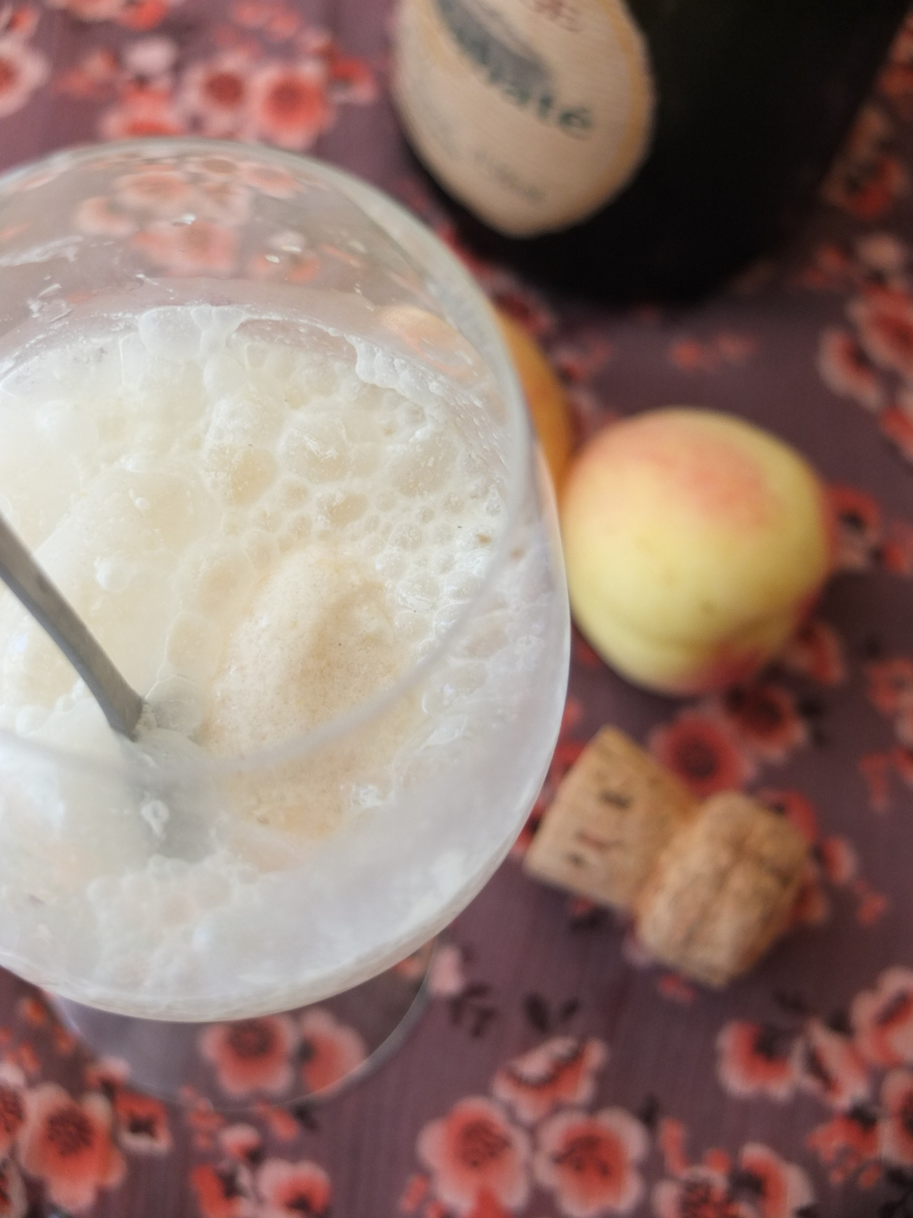 Apricot ice-cream and cava