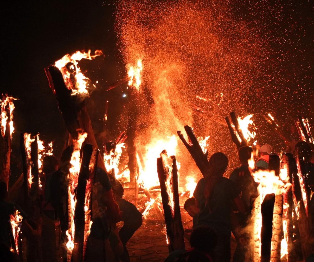 Bonfire in the main square