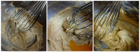 Adding the spices and egg yolks