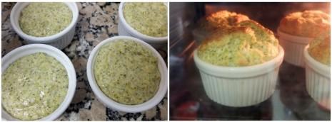 baking the soufflés