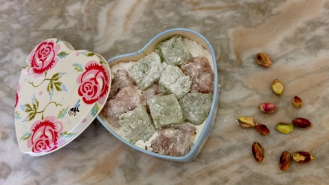Rose and Lime Turkish Delights