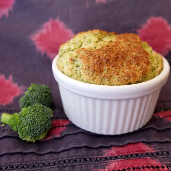 Broccoli and cheese soufflé