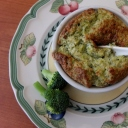 Broccoli and cheese soufflés
