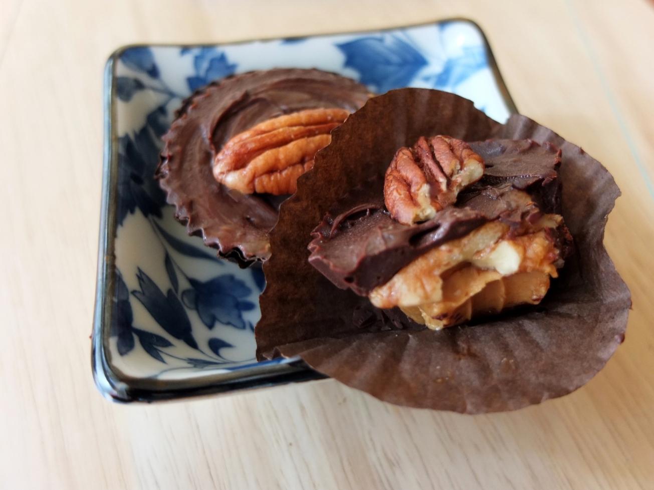 Salted date caramel peanut butter cups