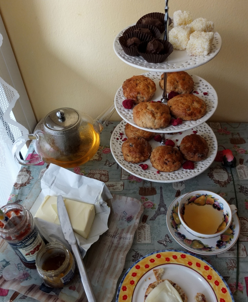 Afternoon tea with Ispahan scones