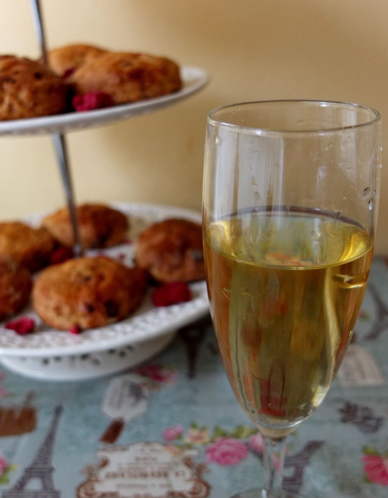 Cava and Ispahan scones