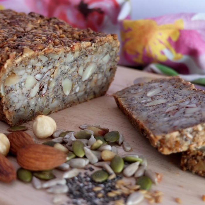 Gluten-free seed and nut bread