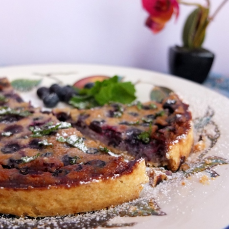 Blueberry and pine nut tart no.1