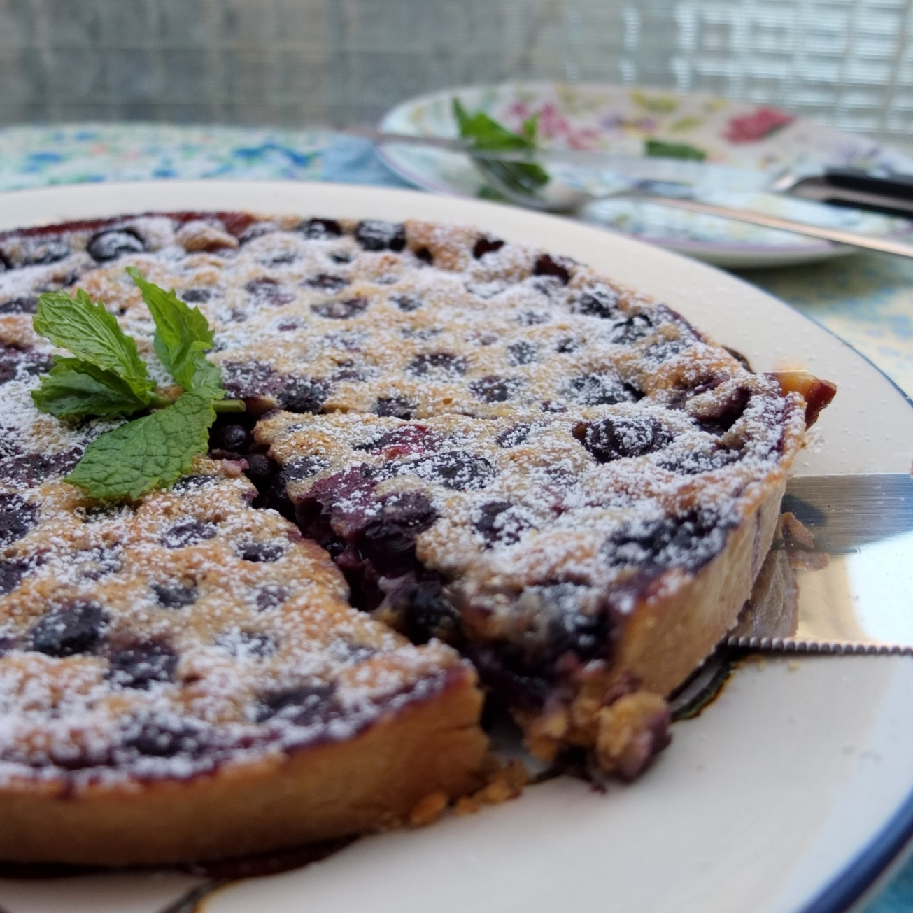 Blueberry and pine nut tart no.2