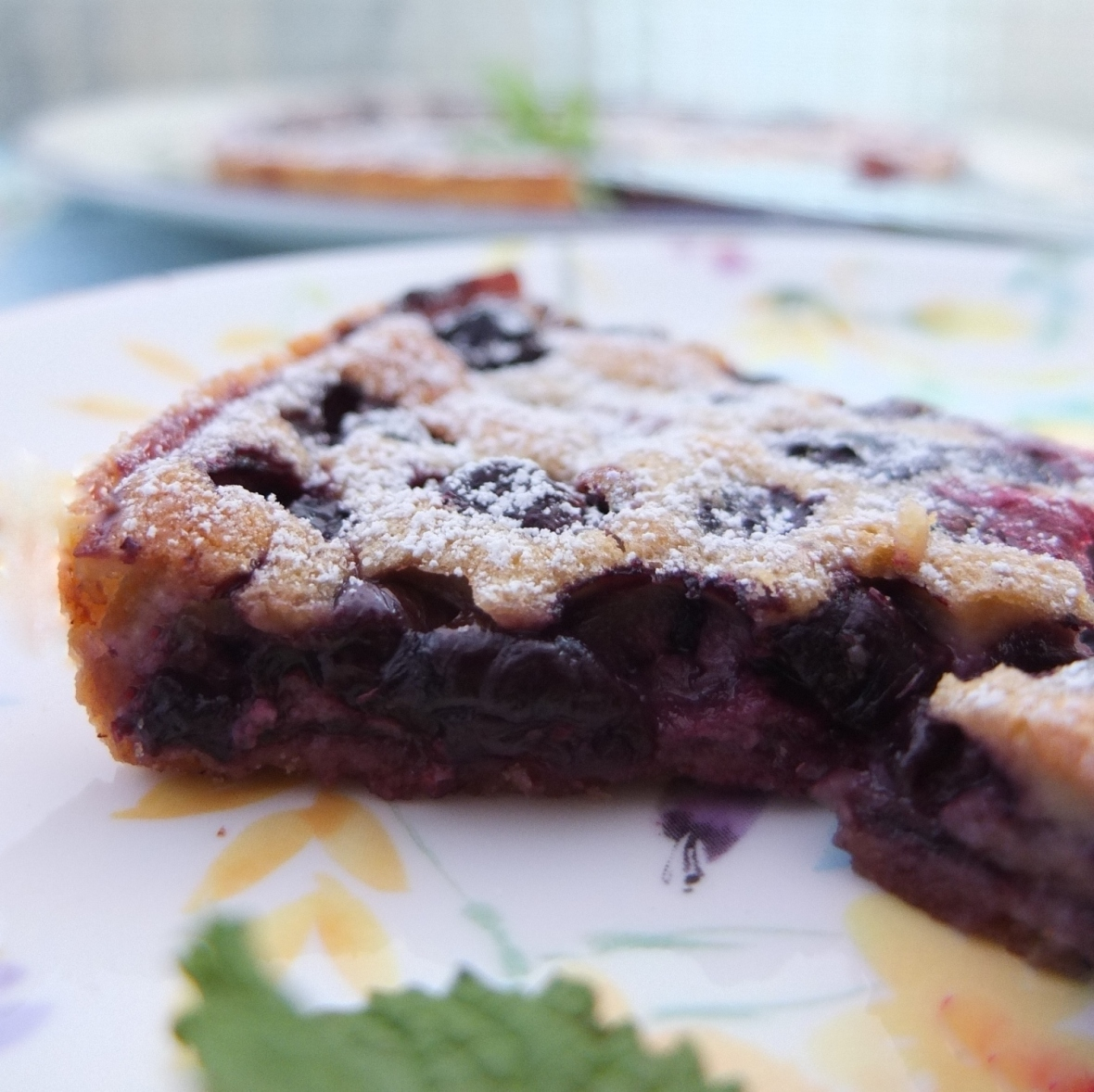 Blueberry and pine nut tart
