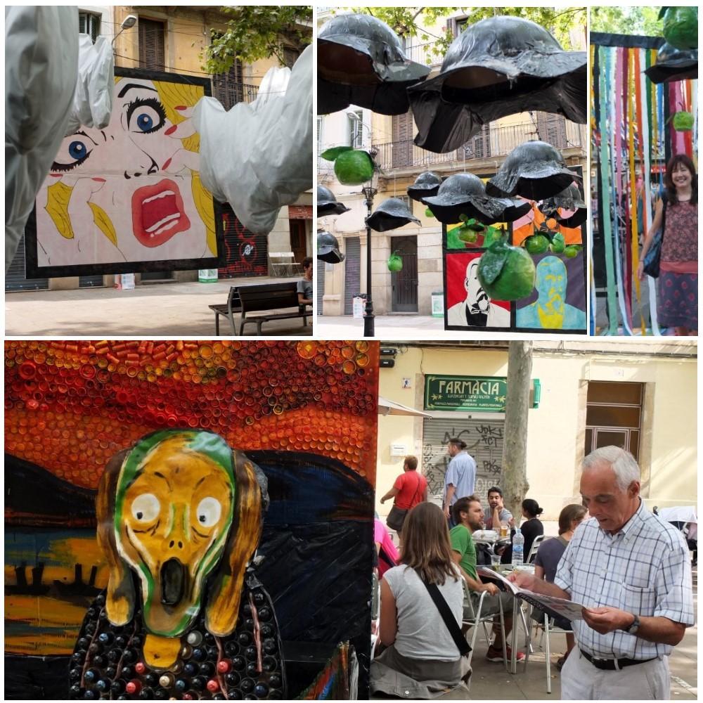 Modern art at plaça de rovira i trias
